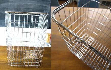 金属製のオシャレな洗濯カゴ
